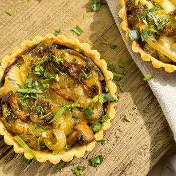 Tartelettes aux champignons et au fromage Oka