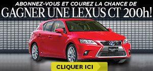 Gagner une Lexus CT 200h !