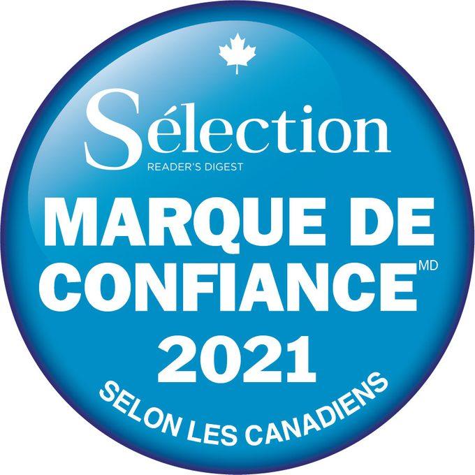 Marque de confianceMD 2021 de Sélection.