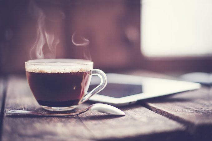 La café à consommer avec modération