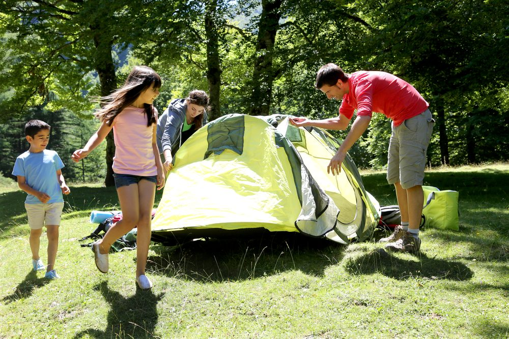Prenez du papier bulle en camping