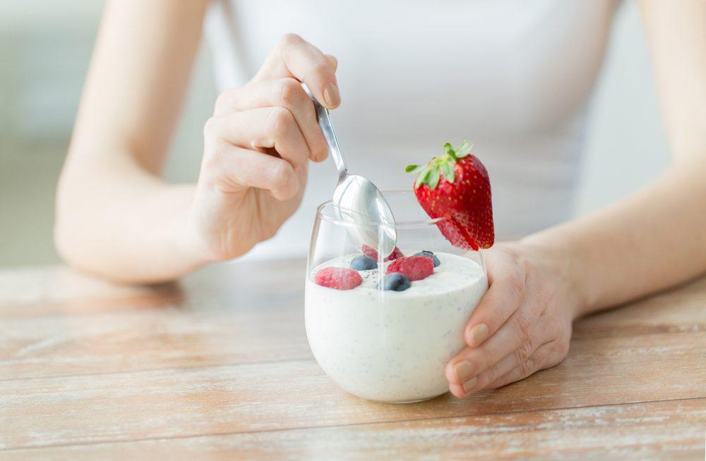 On trouve des probiotiques dans le yogourt