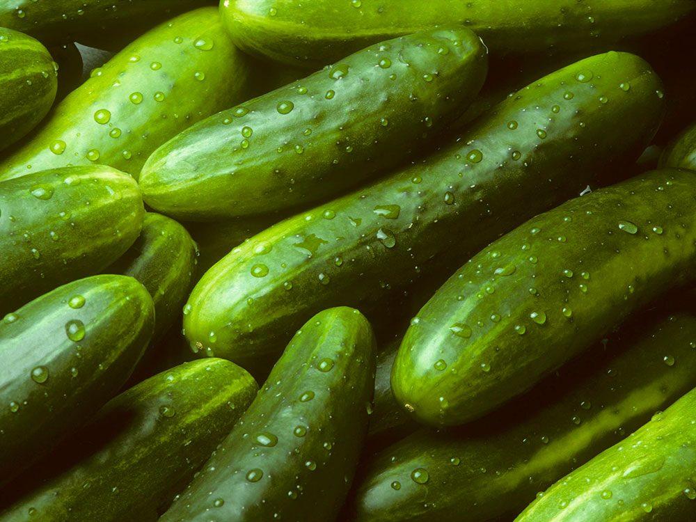 Aliments frais : concombres