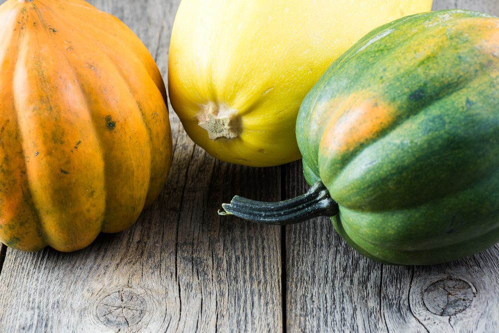 Aliments frais : gardez les courges loins des fruits