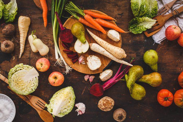 Aliments frais: les légumes racines au frais!