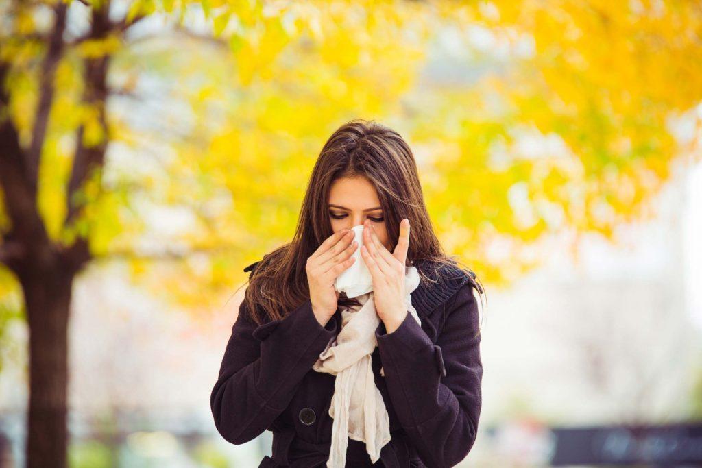 Le baume à lèvres soulage le nez irrité