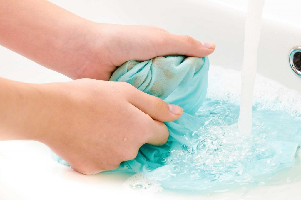Erreur de lavage : laisser les taches s'incruster