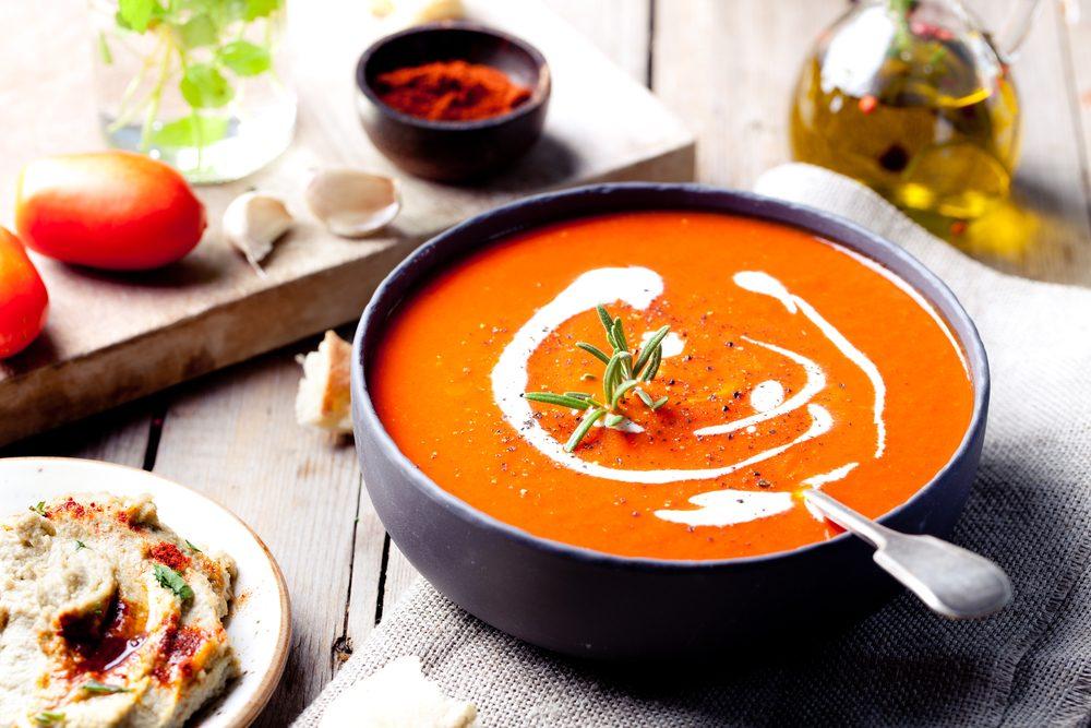 La soupe est nourrissante et réconfortante