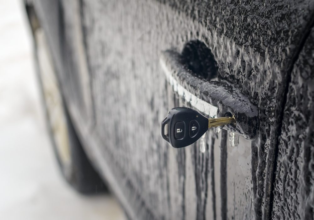 Chauffer votre clé avec un briquet si la serrure est gelée.