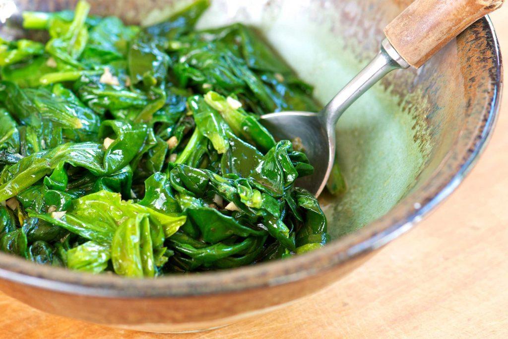 La salade d'épinards, une bonne source de fer