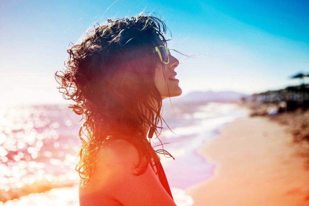Le soleil obstrue les pores de peau