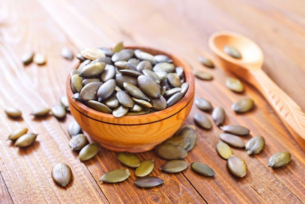 Les graines de citrouille une bonne source de fer