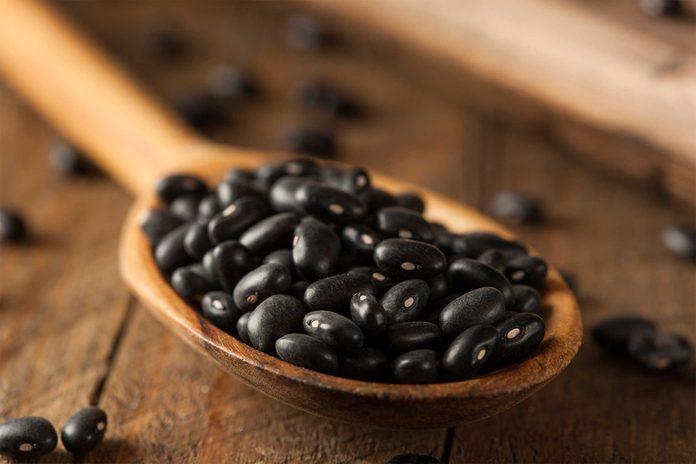 Beaucoup de fer dans les haricots noirs