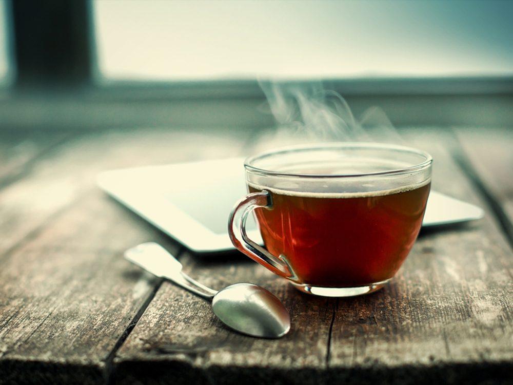 Le thé aide à rester en santé.