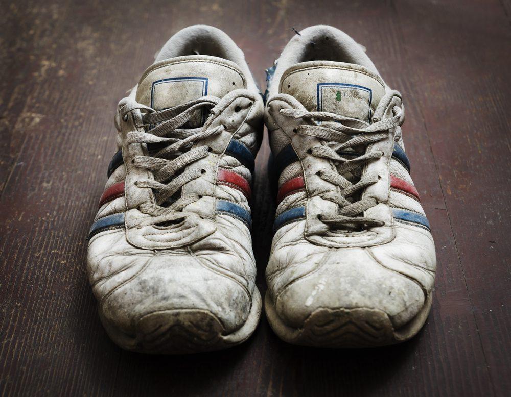Si vos souliers de sport sont trop usés, ils peuvent vous blesser.