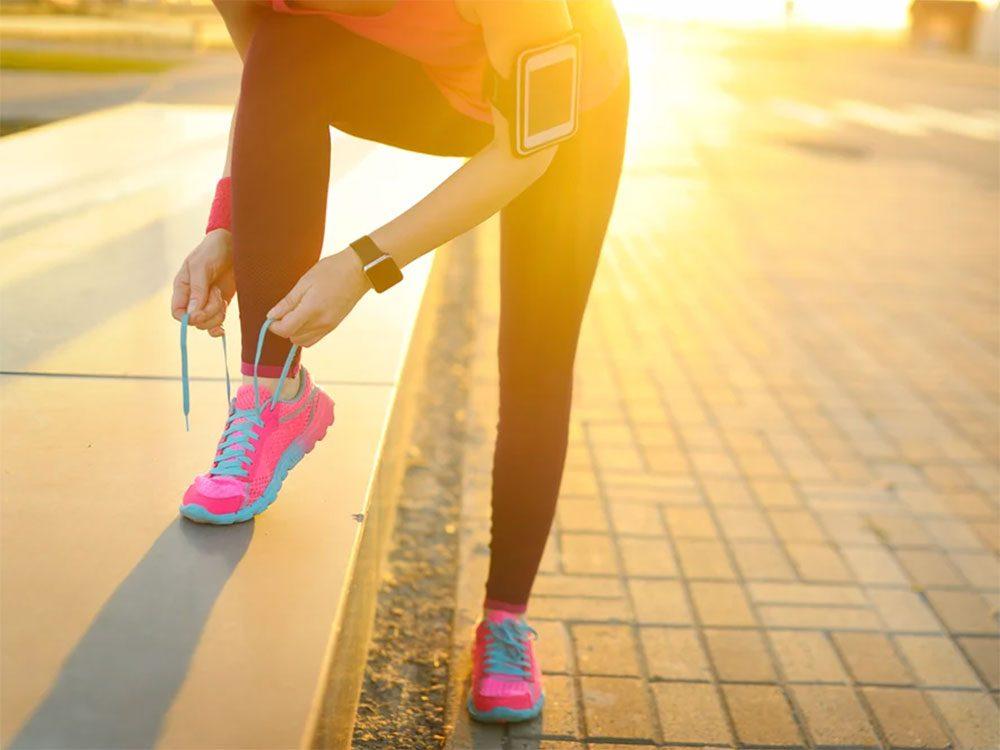 Il est important de bien lacer vos chaussures de sport.
