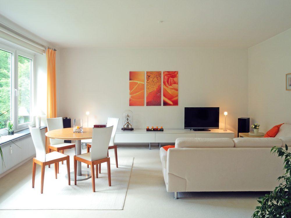 Règle de décoration : blanc, le plafond