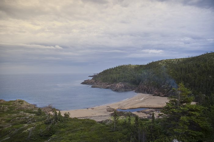 La plage Gallix à Sept-Îles