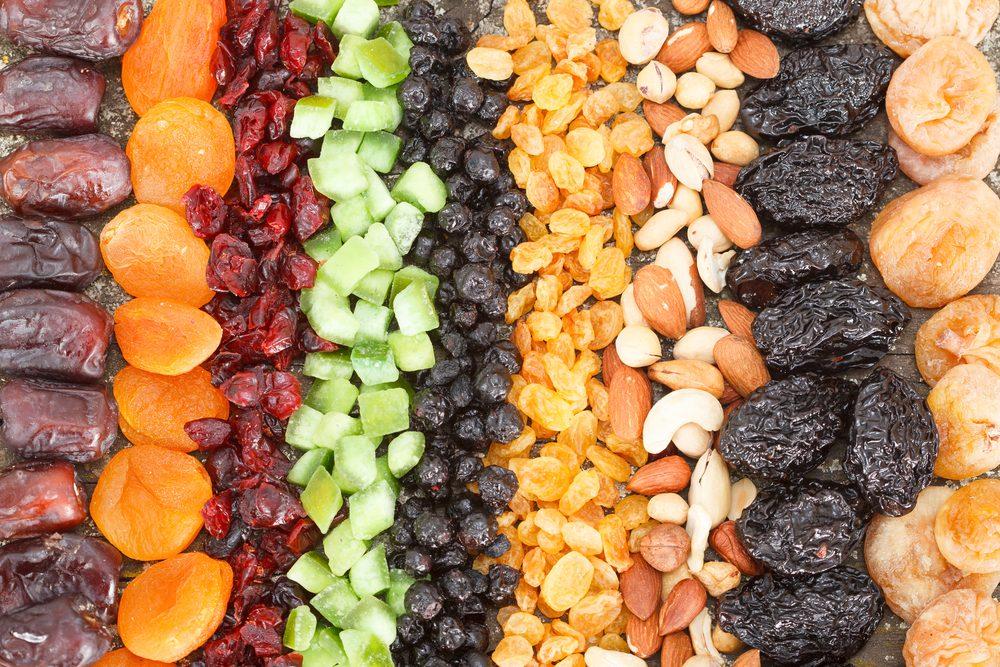Les fruits secs constituent une excellente collation santé.