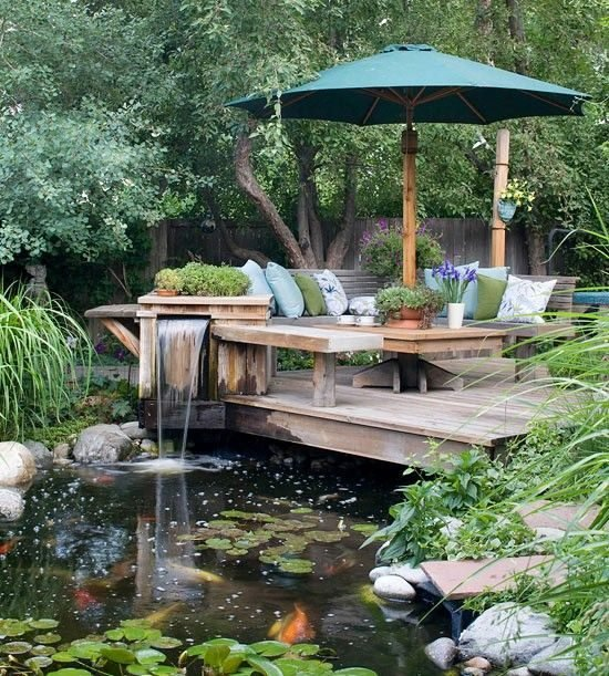 Un jardin champêtre
