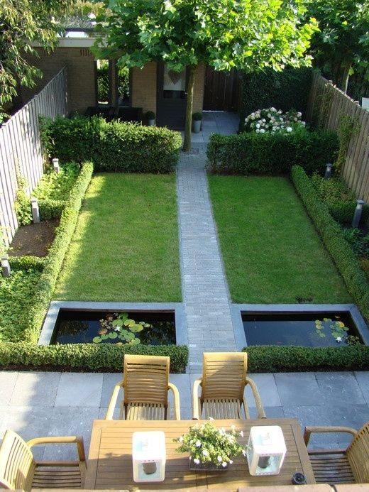 Un jardin bien aligné