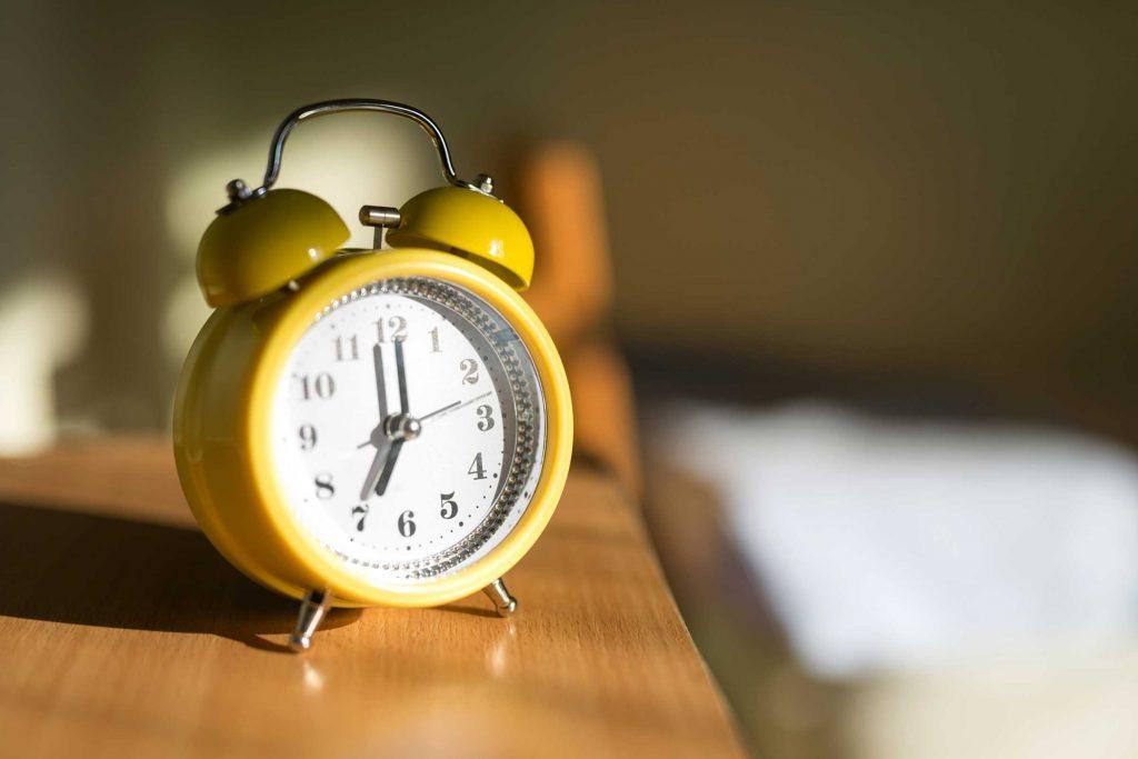 Essayez d'utiliser un vrai réveil au lieu de votre cellulaire.