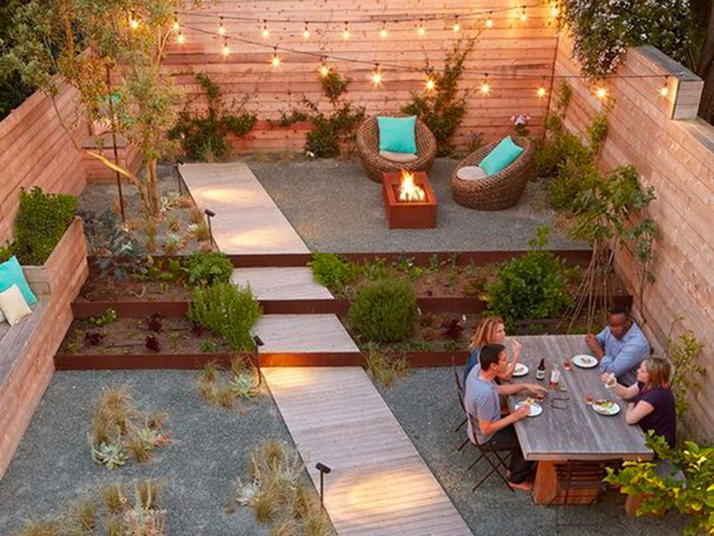 Un jardin de rêve, sans pelouse.