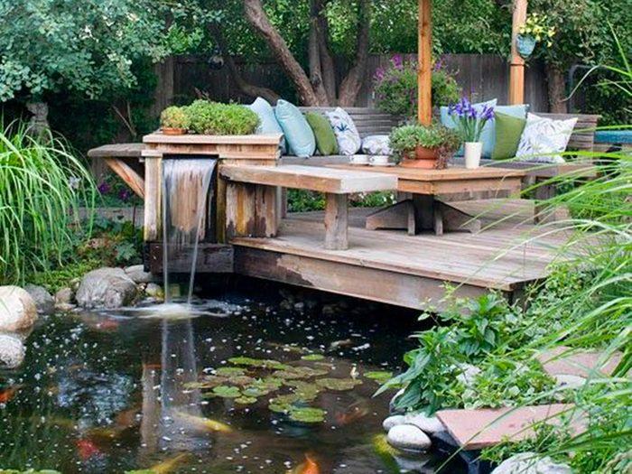 Jardin de rêve champêtre.