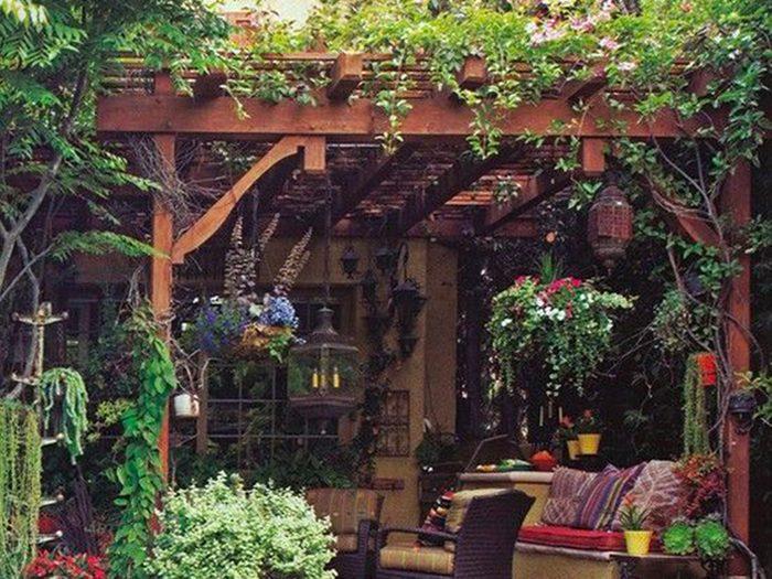 Jardin de rêve: un toit de verdure.