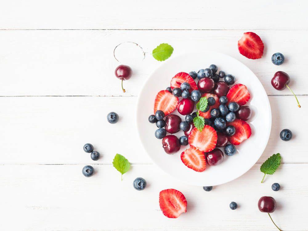 Laxatif : les bleuets et les fraises.