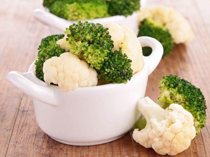 Laxatif: le brocoli et le chou-fleur