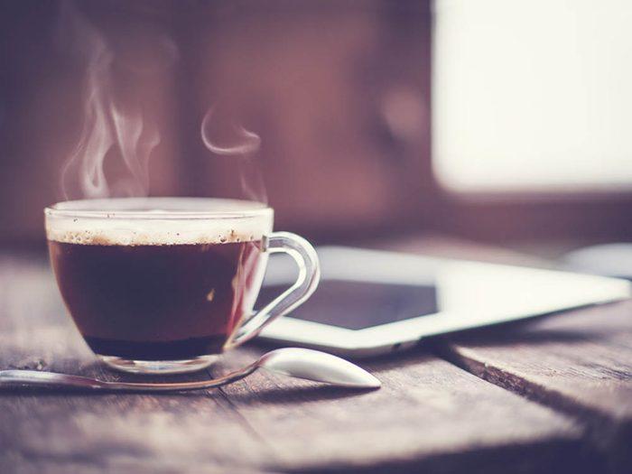 Laxatif: le café.