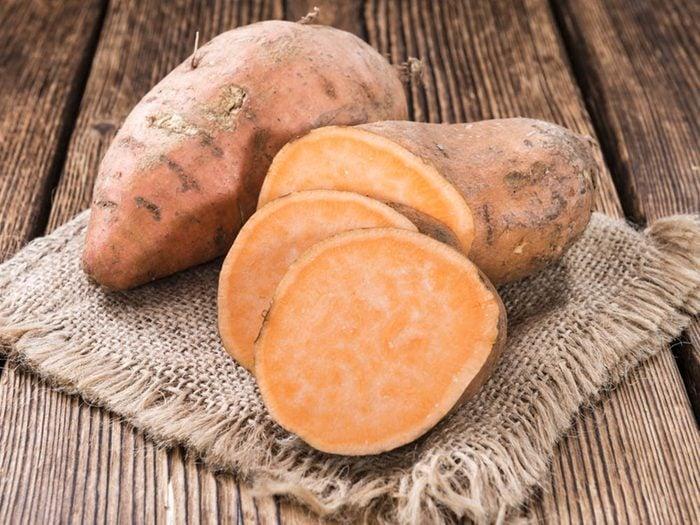 Laxatif: la patate douce.