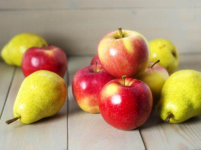 Laxatif: les pommes et les poires.