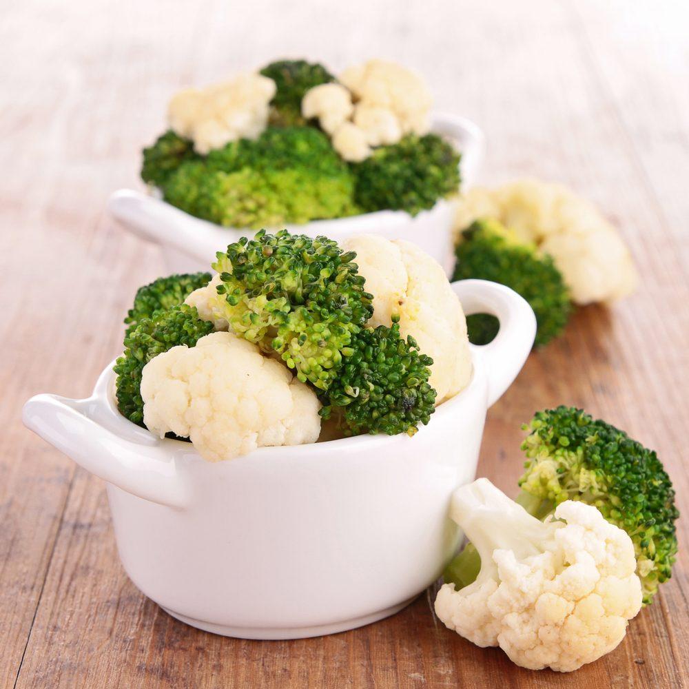 Laxatif naturel: brocoli et chou-fleur