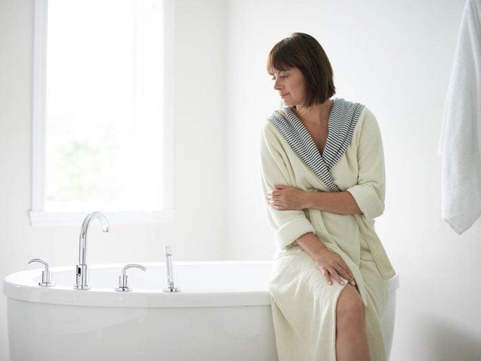 À l'approche de votre ménopause vous pourriez ressentir de la sécheresse vaginale.