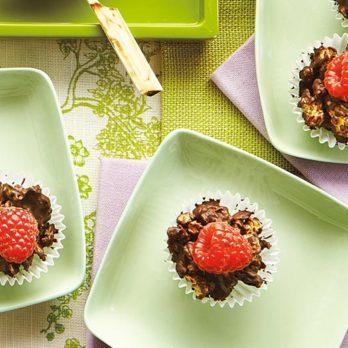 Coupes granola choco-framboises