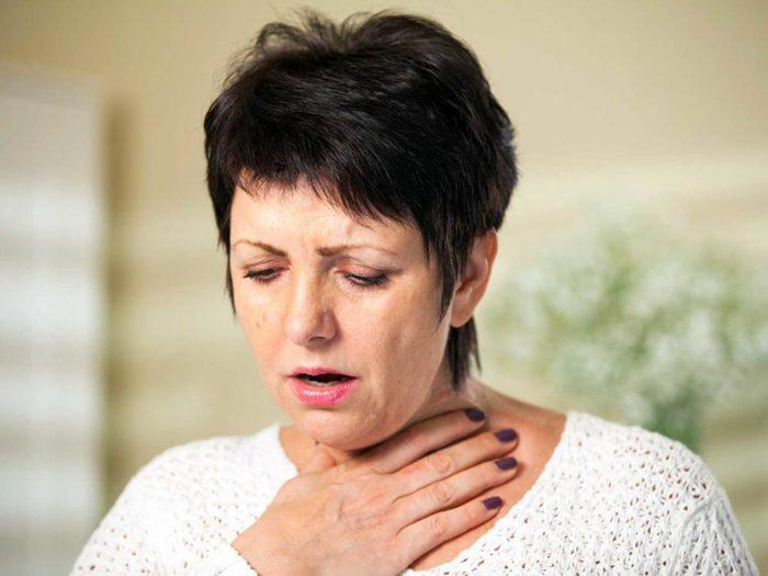 Si vous souffrez de septicémie, il se pourrait que vous ayez le souffle court.
