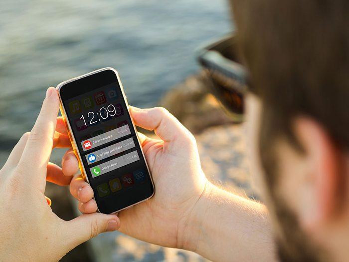 Les nombreuses notifications vident la batterie de votre téléphone.