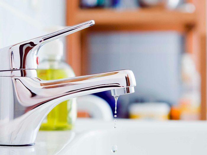 Urgence: quand un robinet ne cesse de couler.