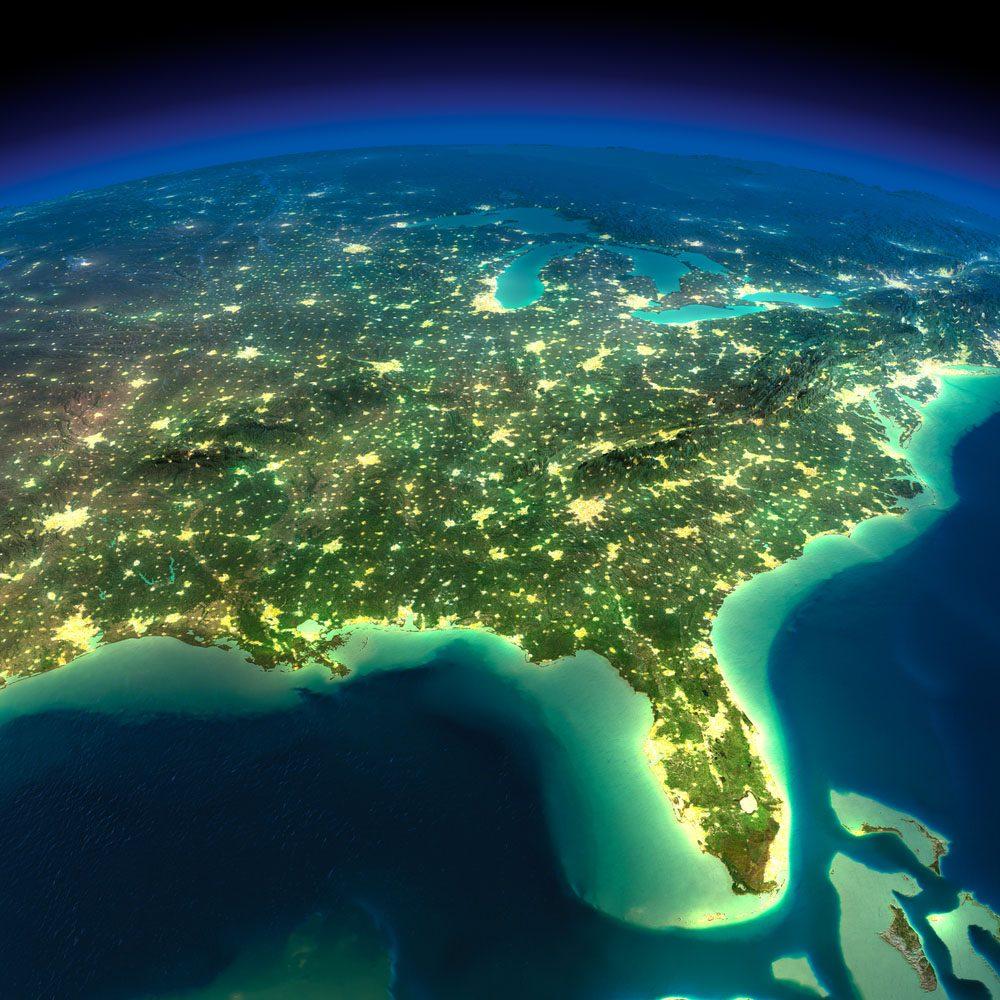 La Floride a le plus long littoral de tous les états des États-Unis