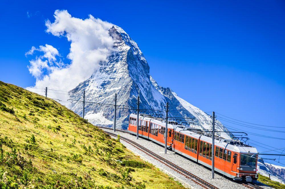 Le Cervin (Matterhorn) est la plus haute montagne d'Europe