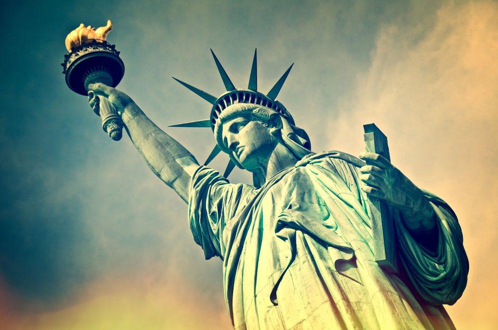 La statue de la Liberté est à New York