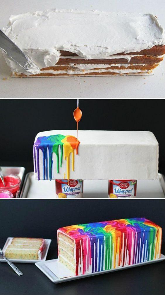 Apprenez à faire ce gâteau qui ressemble à un tableau d'artiste.