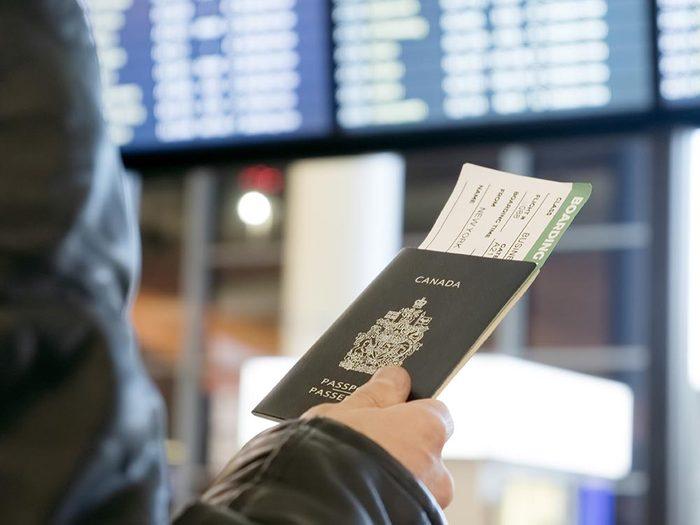 Avant d'arriver à l'aéroport, vérifier que votre passeport n'est pas sur le point d'expirer.