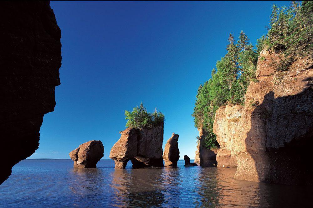 La splendide route du littoral de Fundy, au Nouveau-Brunswick