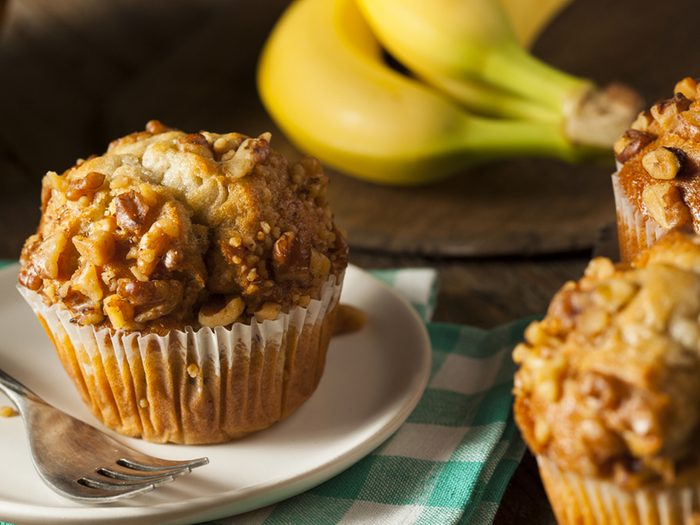 Une recette de muffins aux bananes