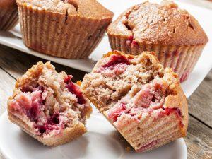 Muffins aux framboises et amandes