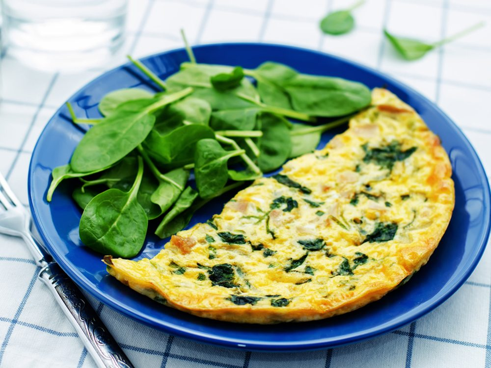 Cette omelette est idéale pour un repas léger.