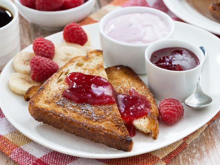 Une recette de pain doré aux fruits pour perdre du poids.